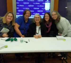Louise Penny with me and friends